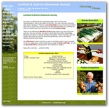 Allotments website