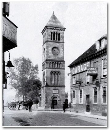 Clock Tower in black and white