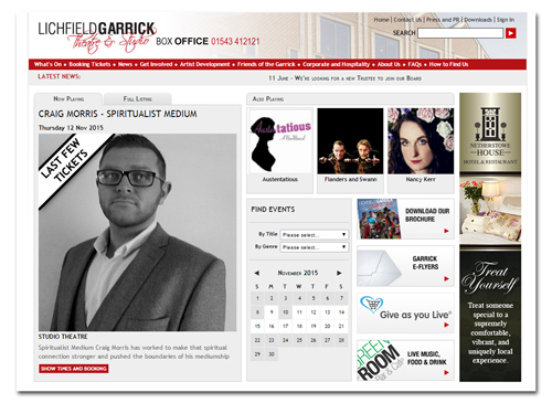 The Garrick Theatre website