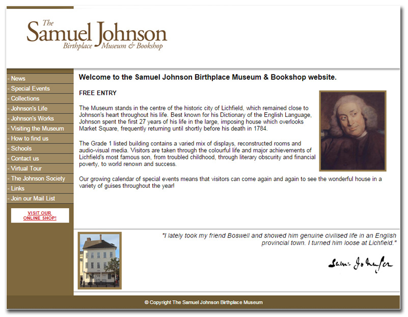 Samuel Johnson website