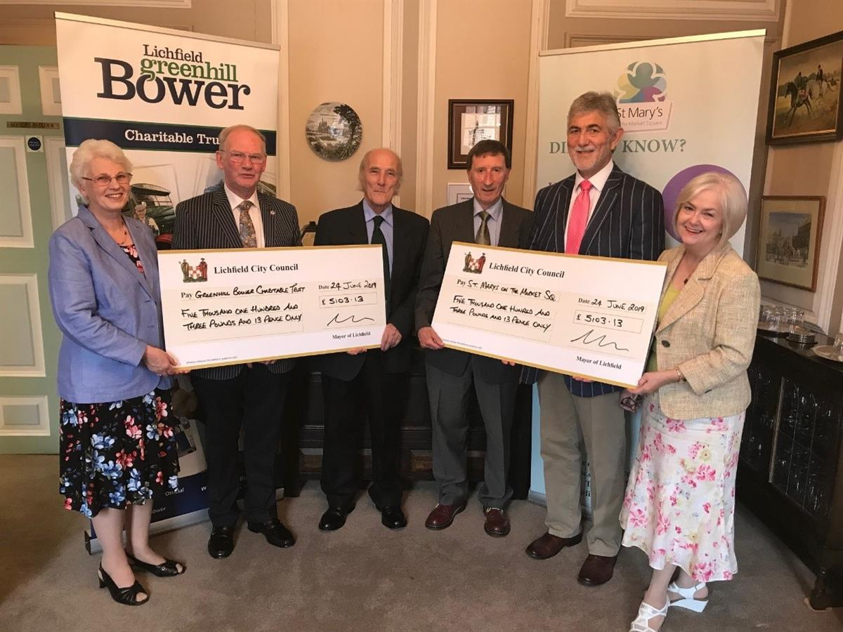 Mayor and Sheriff Charity cheque presentation