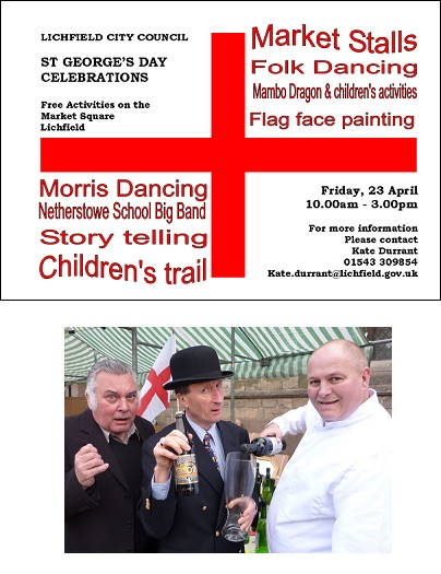 St George's Day Celebrations poster